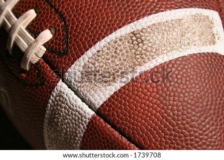 Detail of a football - stock photo