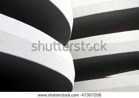 Detail of a garage in Mexico City - stock photo