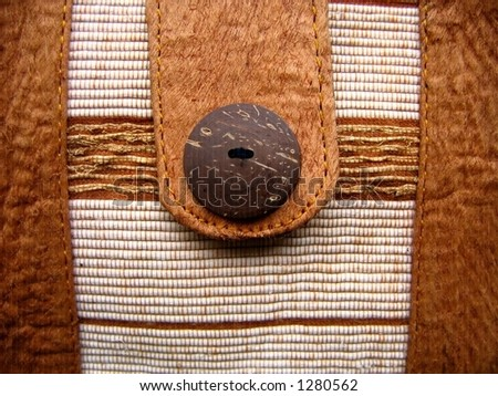 Detail of a Handmade Bag -- made by aboriginal craftsmen from natural materials