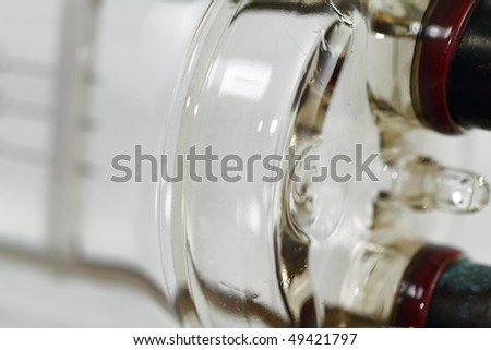 Detail of a high intensity light bulb - stock photo