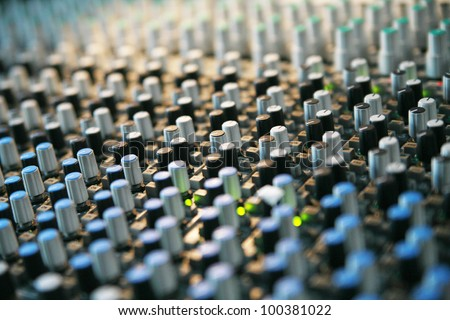 Detail of a mixer............ - stock photo
