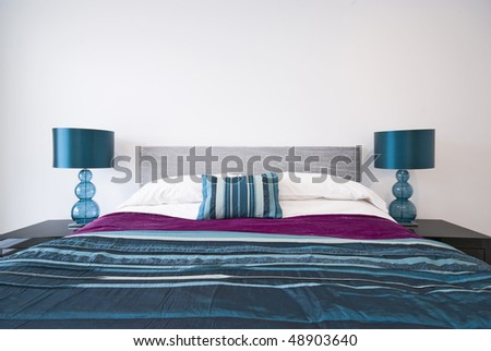 Detail of a modern bedroom - stock photo