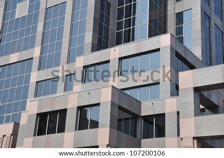 Detail of a modern building in Raleigh, NC - stock photo