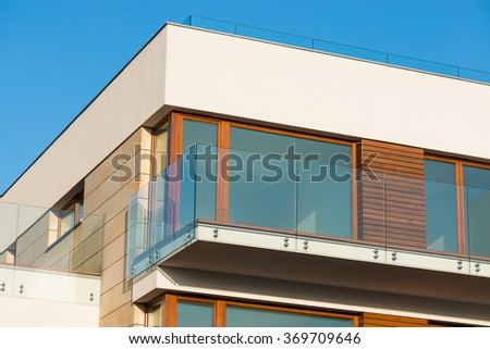detail of a modern luxury apartment in Poznan of Poland - stock photo