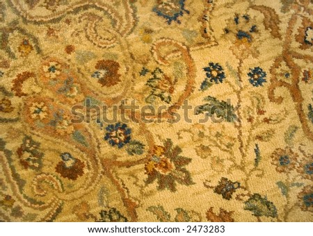 Detail of a Persian rug. - stock photo