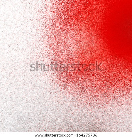 detail of a spray painted graffiti - stock photo