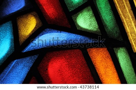Detail of a stained glass window 4 - stock photo