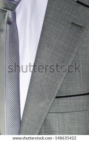 detail of a suit - stock photo