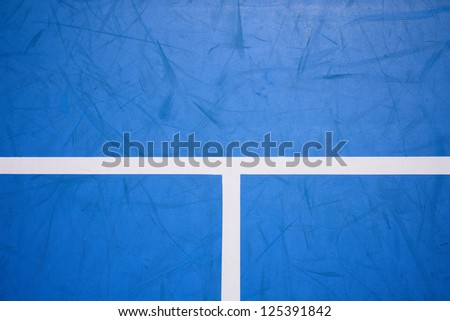 Detail of a tennis court - stock photo