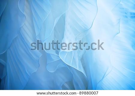 Detail of a wedding dress - stock photo