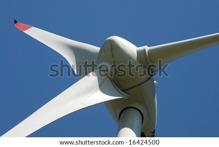 Detail of a wind power plant - stock photo