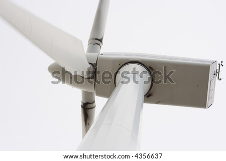 Detail of a windmill - stock photo