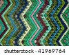 Detail of a zig-zag pattern on Guatemalan fabric - stock photo