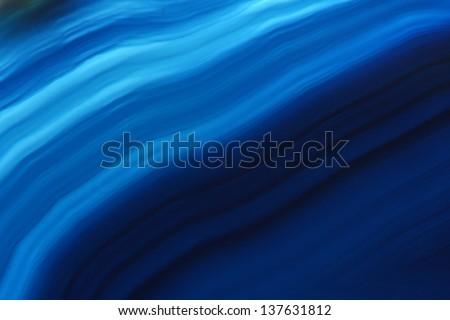 detail of agate(mineral) texture in blue color - stock photo
