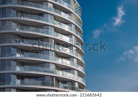 Detail of an apartment building - stock photo