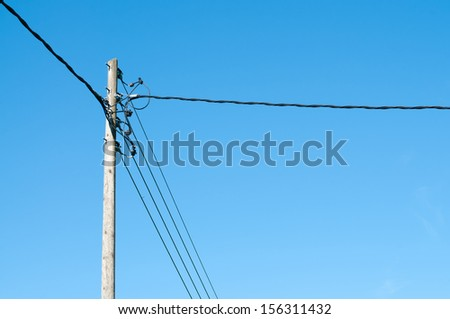Detail of an electric supply post - stock photo