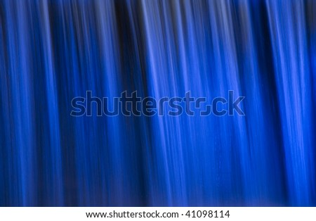 Detail of an Illuminated Waterfall in Seoul
