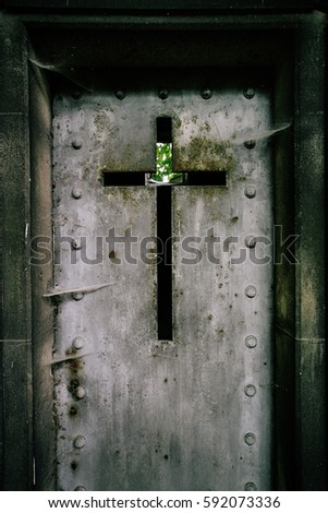 Detail of an iron mausoleum iron door in a cemetery & Mausoleum Cemetery Stock Images Royalty-Free Images \u0026 Vectors ... Pezcame.Com