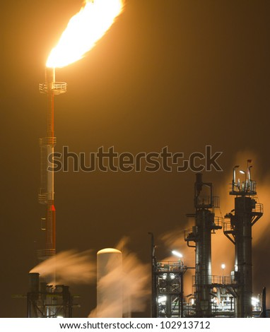 Detail of an oil-refinery plant
