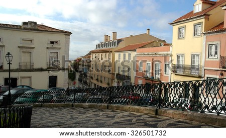 Detail of an old building, Lisbon, Portugal - stock photo