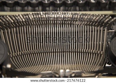 Detail of antique typewriter