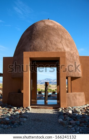 Detail of architecture in the desert of Namibia - stock photo