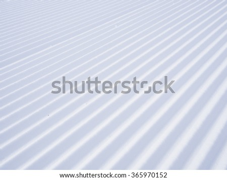 detail of arranged downhill course, Parsenn mountains, Davos, Switzerland - stock photo