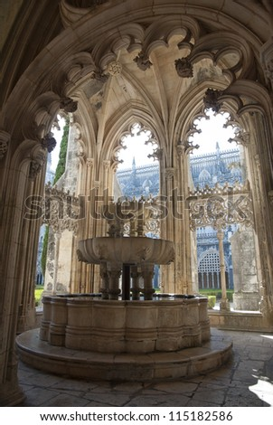 Detail of Batalha monastery, unesco world cultural heritage, Portugal