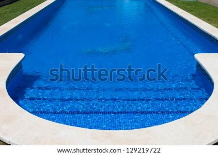 detail of beautiful swimming pool - stock photo