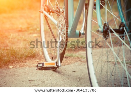 detail of bicycle - stock photo