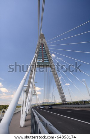 Detail of bridge (Hungary) - stock photo