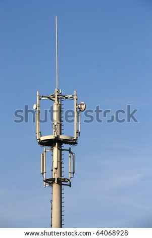Detail of cell phone communications mast.