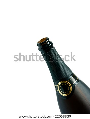 detail of champagne bottle - stock photo