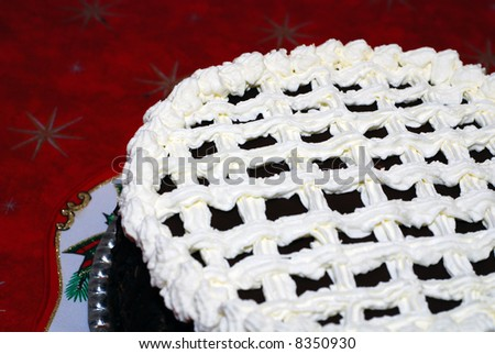 detail of Christmas Cake - stock photo