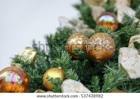 Detail of christmas decoration