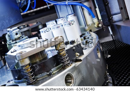 detail of cnc cutting machine - stock photo