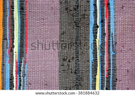 Detail of colorful doormat use for background  - stock photo