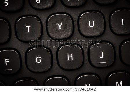 Detail of computer keyboard. Concept of office work, business communication and modern technology.