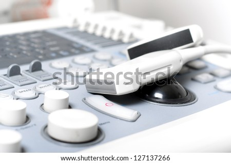 Detail of computer ultrasound with x-ray in modern medicine - stock photo