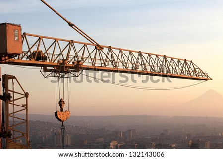 Detail of crane in Yerevan city, Armenia - stock photo