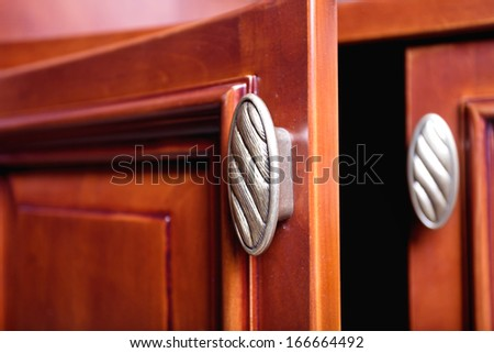 detail of decorated furniture drawers  - stock photo