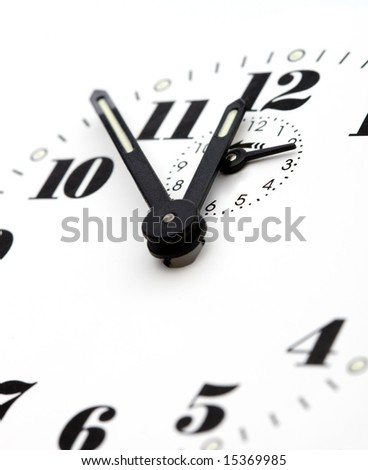 Detail of dial clock - stock photo