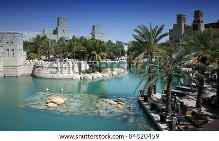 Detail of Dubai, United Arab Emirates - stock photo