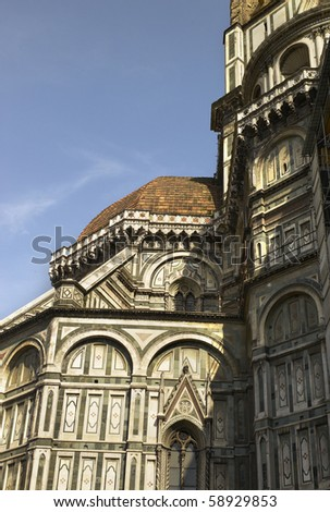 Detail of Duomo Firenze - stock photo