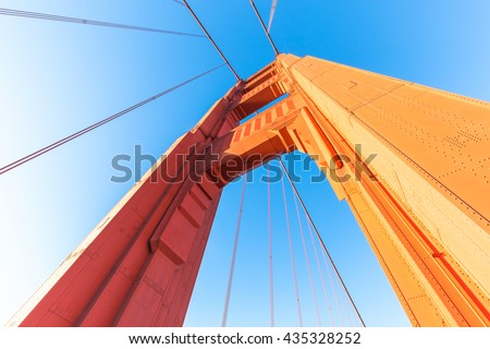 detail of gold gate bridge