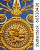 Detail of golden fence of Versailles Palace. France - stock photo
