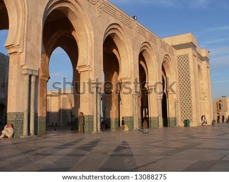 Detail of Hassan II Mosque, Casablanca