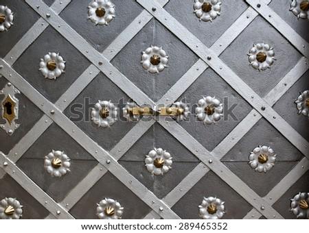 Detail of historic door in Litomysl, Czech republic - stock photo