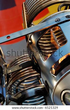 Detail of hot balloon nozzle - stock photo
