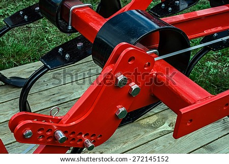 Detail of industrial equipment used in agriculture. - stock photo